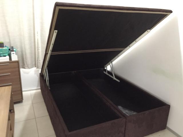 ORTOBOM Cama Box Casal Padrão + Baú