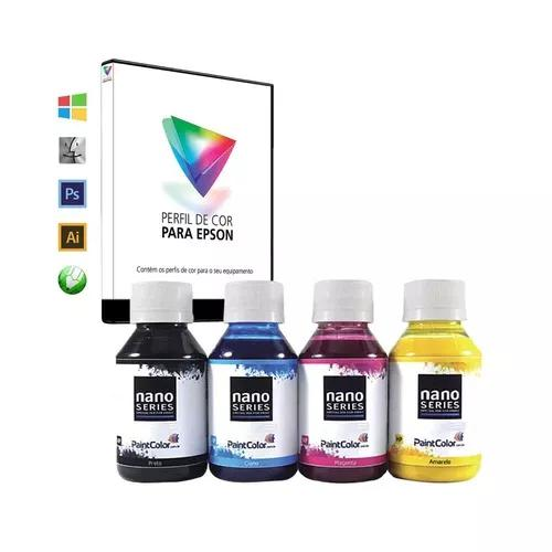 Tinta Sublimática Paintcolor 4 Cores 400ml + Perfil De