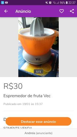 Espremedor de fruta