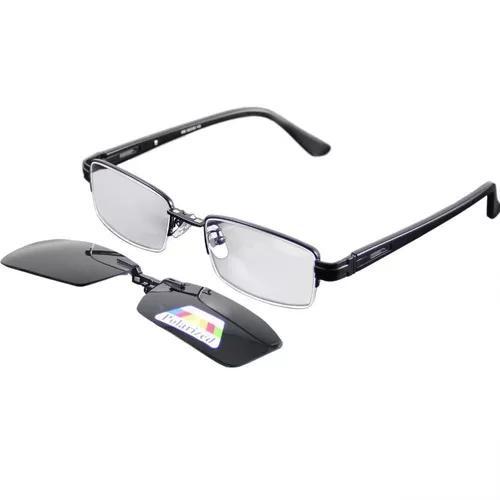 Armação Óculos De Grau Com Clip On Proteçao Uv400