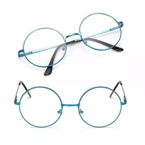 Armação Óculos De Grau Lentes Redondas Cores Harry Potter
