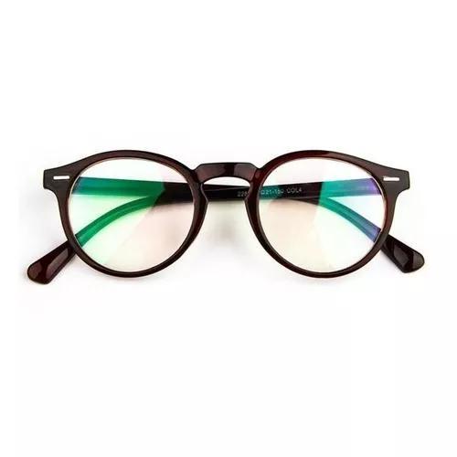 Armação Óculos De Grau Redondo Masculino F