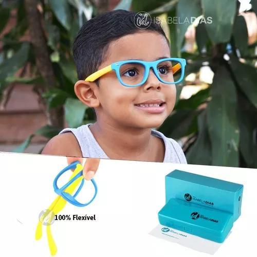 Armação Óculos Grau Flexível Infantil Original 4-10 Anos