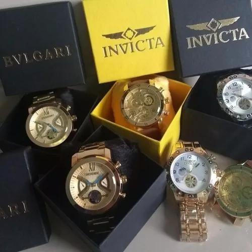 Exclusivo Kit Com 10 Relógios Masculino Luxo + Caixa