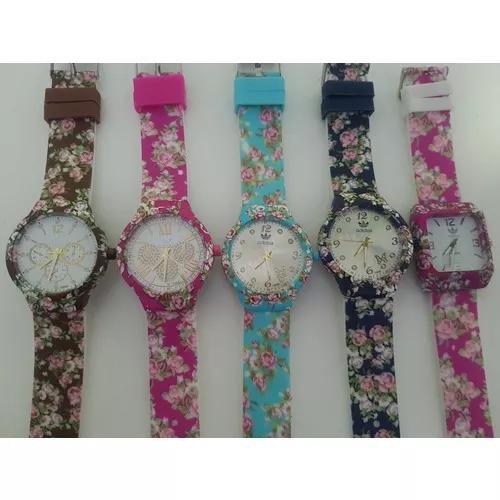 Kit 10 Relógios Floridos Atacado