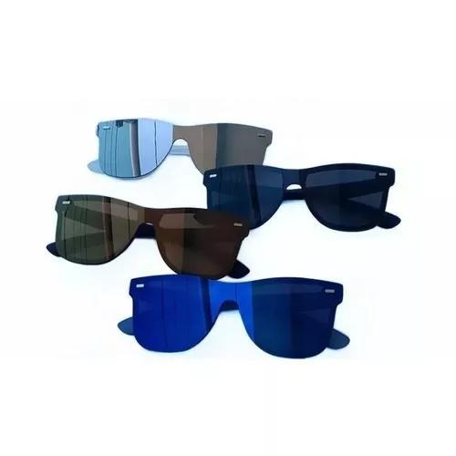 Kit 4 Oculos De Sol Espelhado Quadrado Promoçao