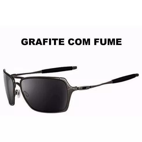 Oculos De Sol Masculino Grafite Lentes Polarizadas Preta