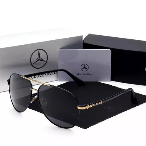 culos De Sol Mercedes Benz - 742 Golden - Polarizado Uv400