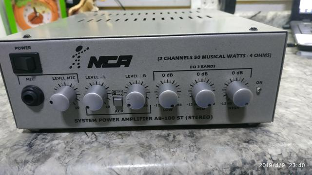 Amplificador de potência NCA AB -100 ST (stereo)