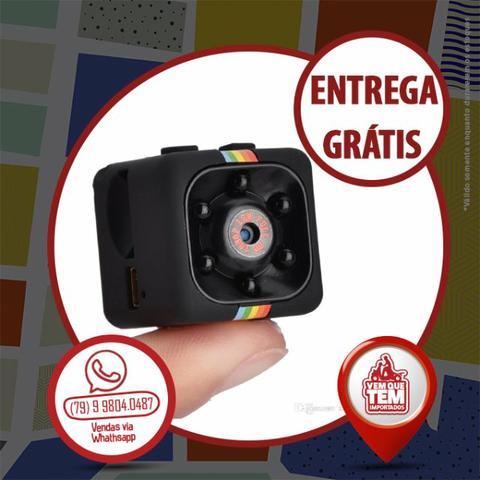 Mini Câmera Espiã Visão Noturna Detector de Movimento
