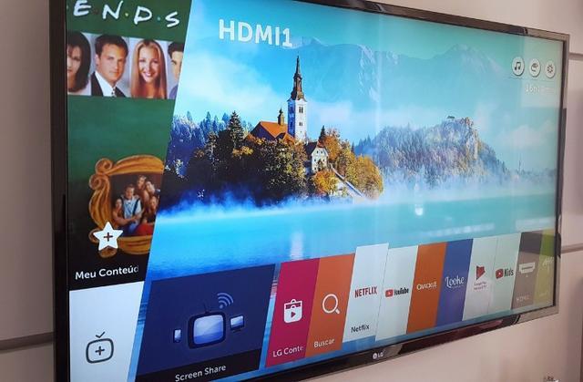 Preço só hj 10/4 Smart Tv LG led 43 pol full hd wi fi