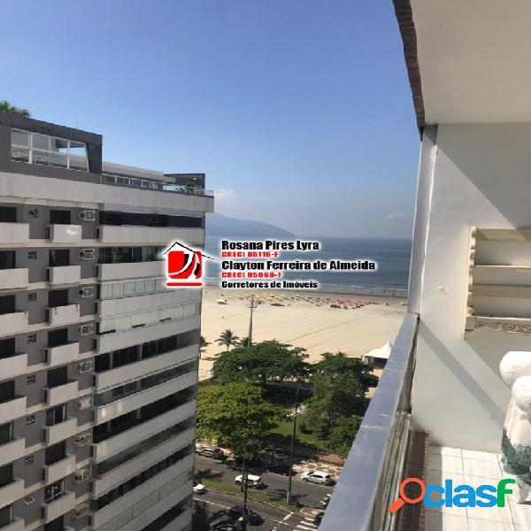 Apartamento 2 quartos, 2 wcs,Frente mar, Gonzaga, Santos