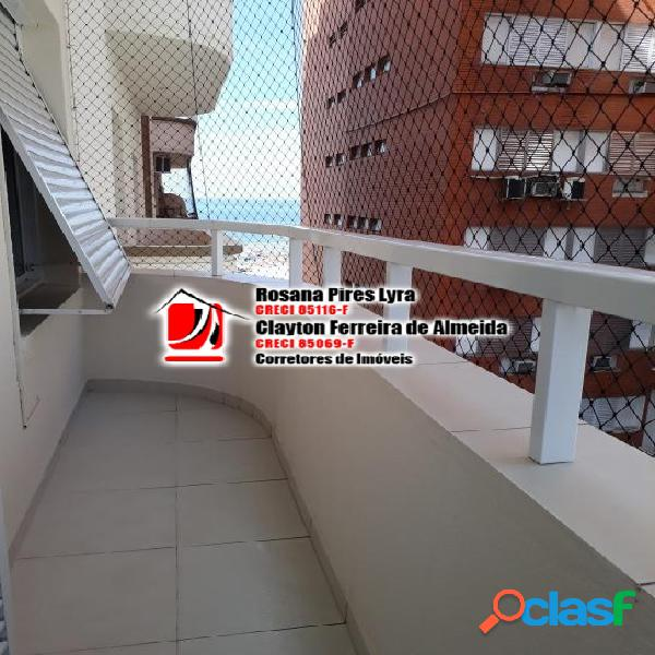Apartamento 2 quartos reformado,Vista mar, Boqueirão,Santos