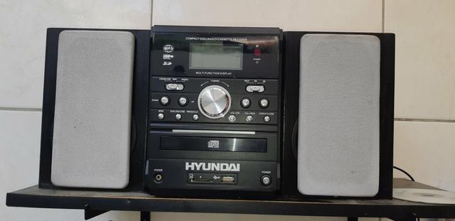 Compacta Disk rádio cassette USB Hyundai