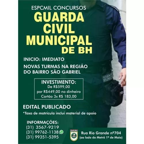Curso Preparatório Para Guarda Civil Municipal De Bh