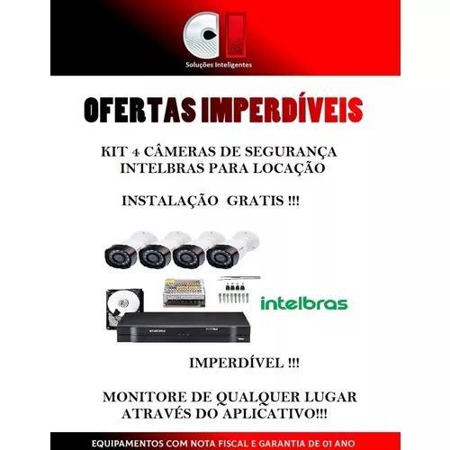 Kit 4 Cameras Intelbras Locação