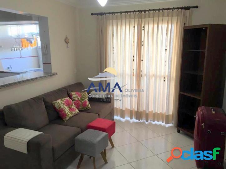 Locação anual 1 dormitório Pitangueiras, com 1 vaga