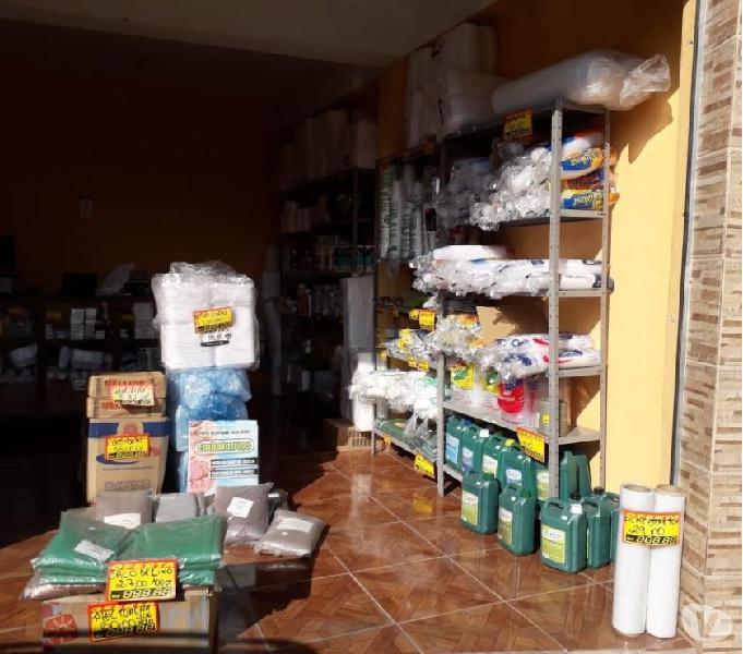 Vendo uma loja de embalagens e descartáveis