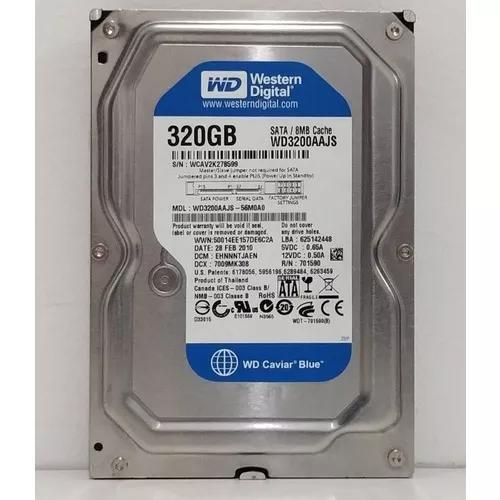 Hd Desktop Western Digital 320gb Sata - Testado