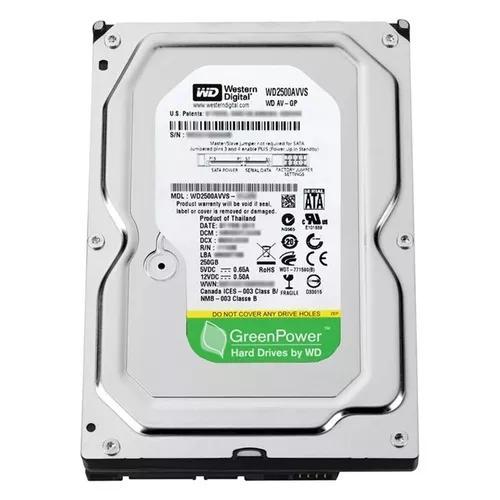 Hd Sata Western Digital Green Power Dvr - 250gb