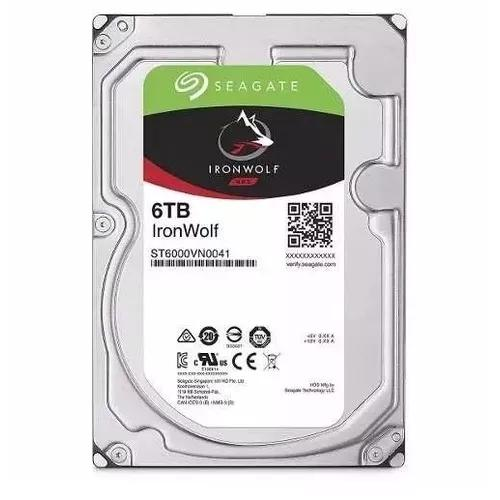 Hd Seagate Sata 3,5´ Ironwolf Nas 6tb 7200rpm 128mb Cache