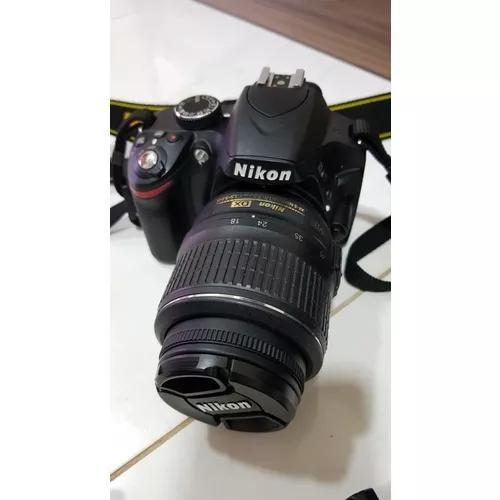 Camera Nikon D5200 Completa E Lente 18-55 Usada 24megapixels