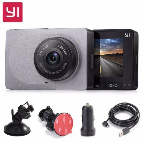 Câmera Veicular Xiaomi Yi 2.7 de Tela, Compacta Dash Camera