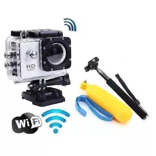 Kit Câmera Wi Fi Aprova D'água + Monopod+ Boia Frete