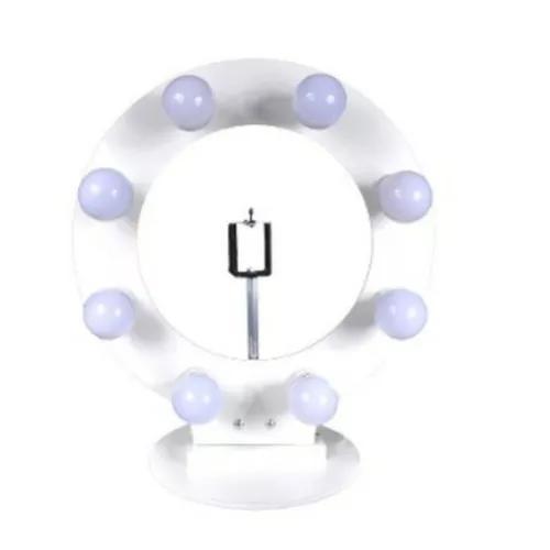 Ring Light Iluminação Para 8 Lâmpadas Led Suporte De