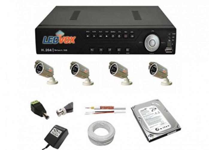 kit cftv 4 cameras completo