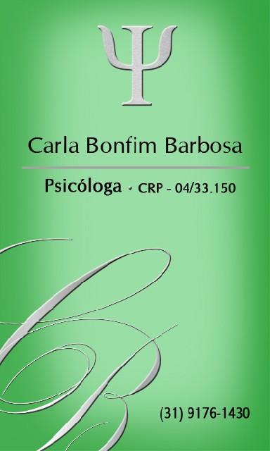 Carla Bonfim Barbosa - Psicóloga
