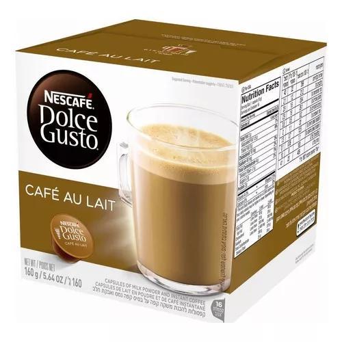 Kit 3 Caixas Nescafé Dolce Gusto Café Au Lait 48 Cápsulas
