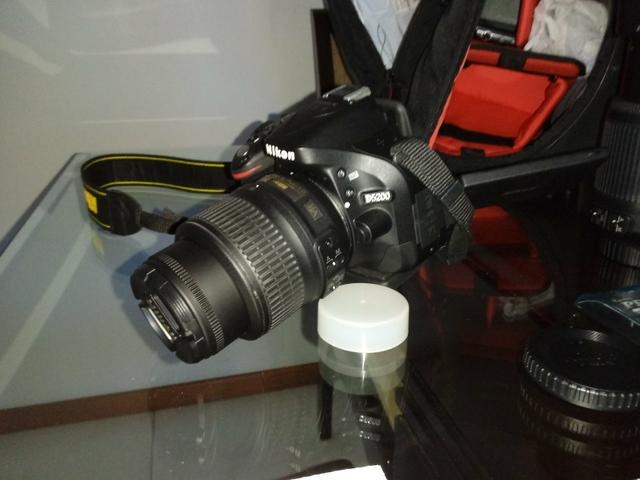Câmera Nikon Profissional D lentes