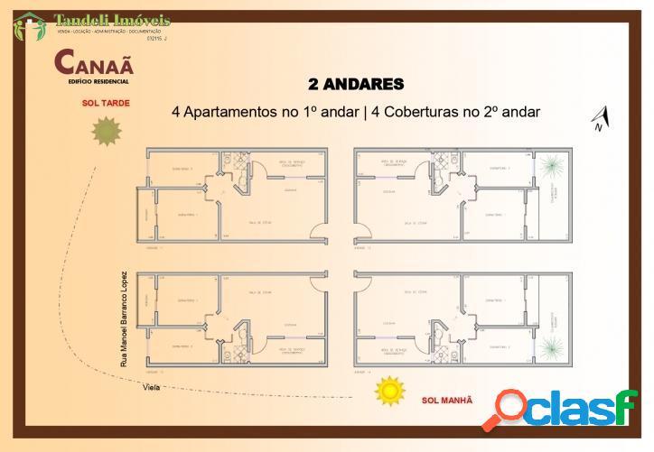 Cobertura sem condomínio, 2 dormitórios - Jardim Zaíra