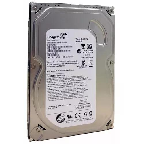 Hd Interno 500gb Sata Pc Dvr Seagate Video 3.5 Garantia
