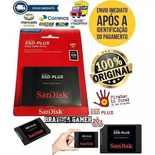 Hd Ssd Sandisk Plus® 240gb 530mbs Sata 3 (20x Mais Rápido)