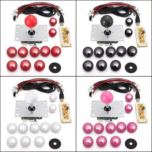 2 Kit Controle Joystick Tipo Sanwa Zero Delay Fliperama
