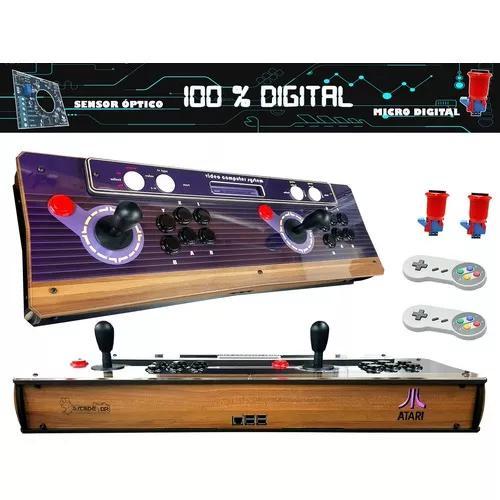 Fliperama Portátil Atari 100% Digital 2controles 8600 Jogos