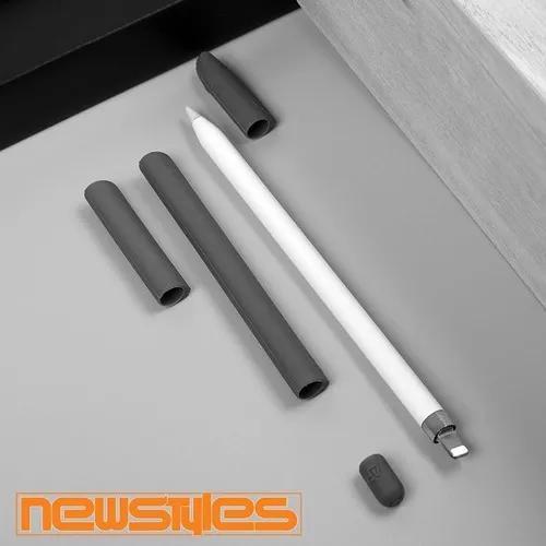 Capa Luva Protetor Silicone Para Apple Pencil Caneta 4 In 1