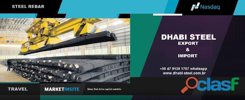 Dhabi Steel Vergalhão de Aço CA50 em Barras Retas
