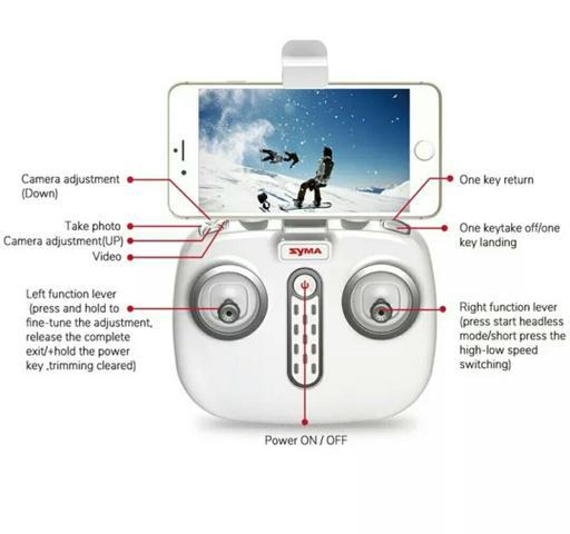 Controle remoto Drone Syma X8 pro GPS