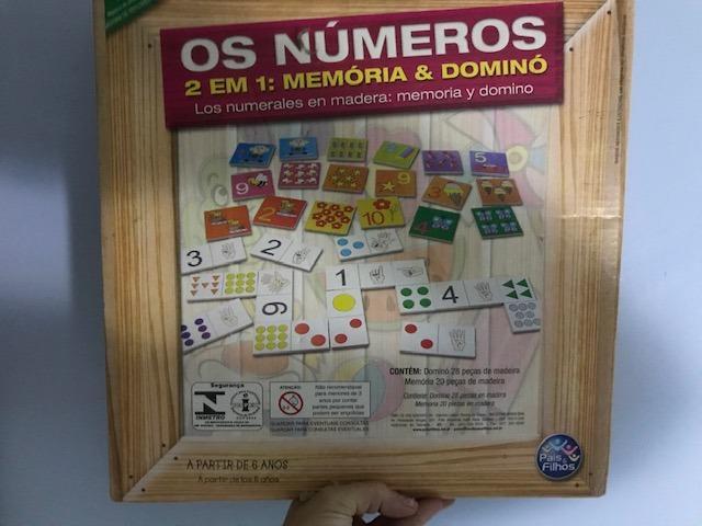 Os números 2 em 1: Memória e Dominó