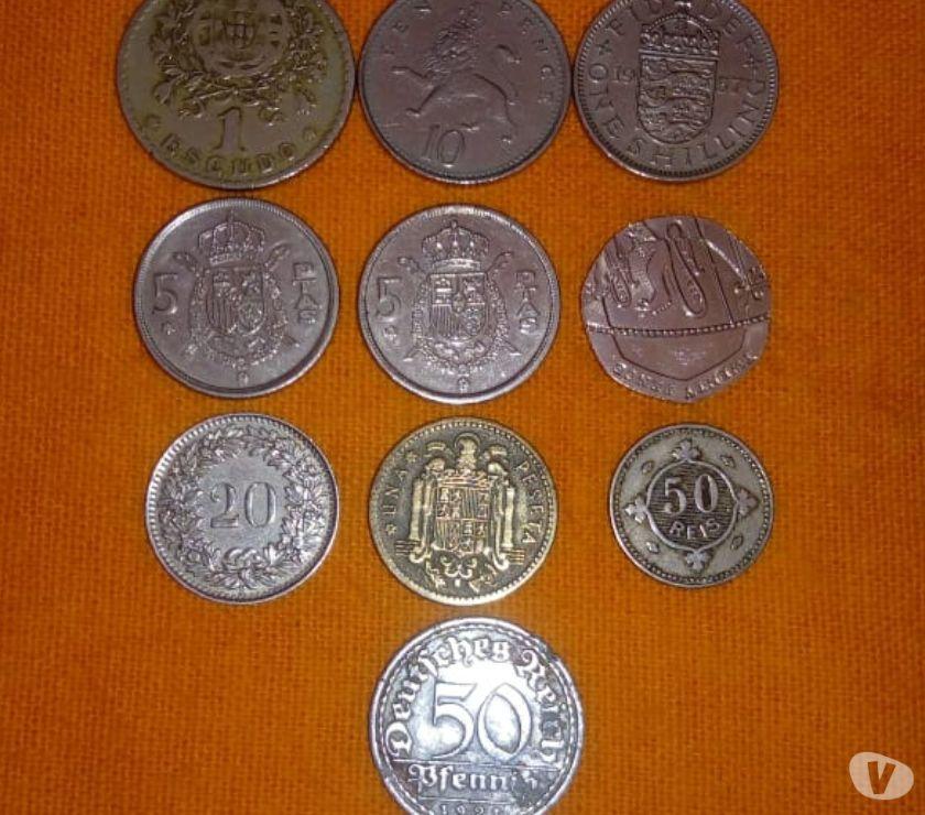 10 Moedas de vários Países em vários metais, ver