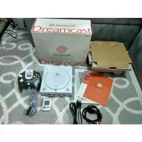 Sega Dreamcast Único Dono Na Caixa Com Manual Usado