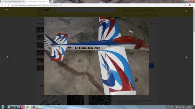 Aeromodelo u can do 60 servos digitais futaba s motor