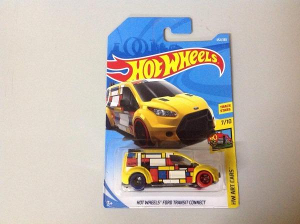 Hot Wheels Ford transit connect amarelo