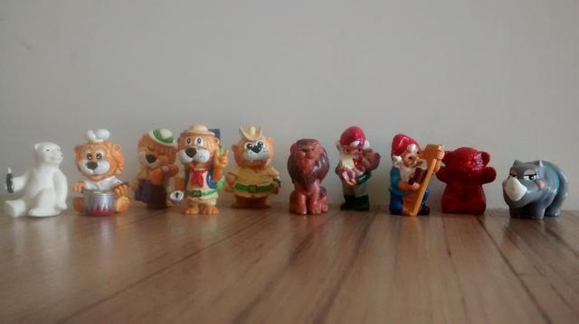 Lote 10 Bonecos Coleção Kinder Ovo anos 90 Leões