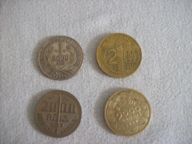 Lote de 4 moedas de  reis  e