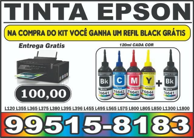 Kit 4 cores Ganha + 1 Refil Preto Tinta Epson T664