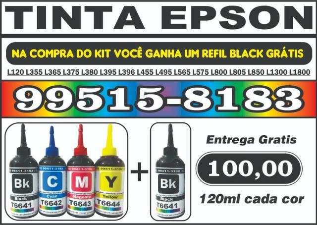 Kit 4 cores Tinta Epson Ecotank 120ml Entrega Gratis